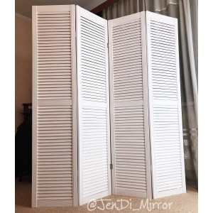 Ширма деревянная из четырех створок белая JenDi 180x160