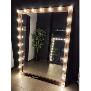 Гримерное зеркало с лампочками  JenDi 190х140 Американо