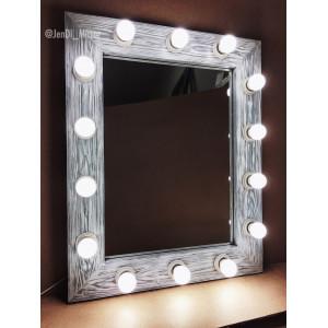 Гримерное зеркало с лампочками  JenDi 60х75 Чикаго