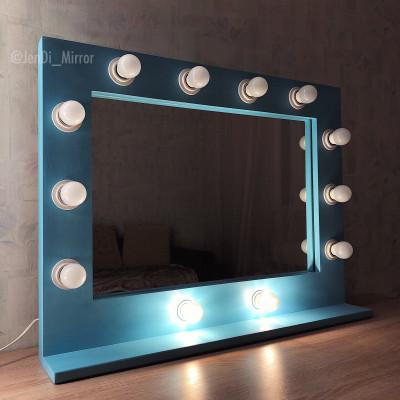 Гримерное зеркало с полкой JenDi 60х80 Голубой топаз