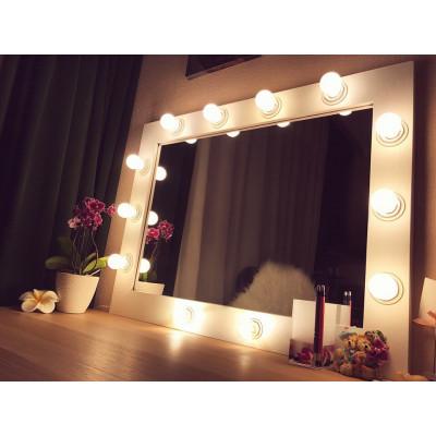 Гримерное зеркало с лампочками JenDi 60х80 White