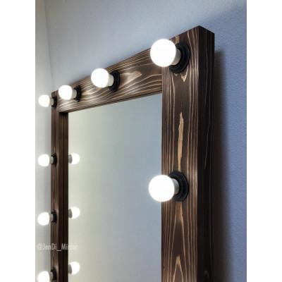 Гримерное зеркало с лампочками JenDi 180х80 Шоколад