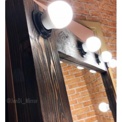Гримерное зеркало с лампочками JenDi 180х80 Американо