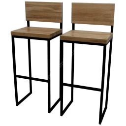 Барный стул в стиле лофт со спинкой 107-41-41 см