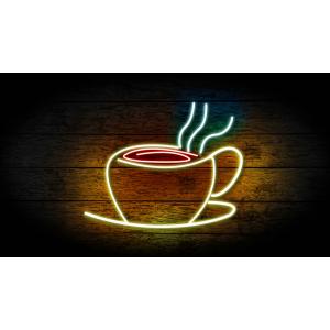 Неоновая вывеска кофе 01