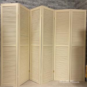 Ширма деревянная из шести створок JenDi 240х180 Ванильный крем