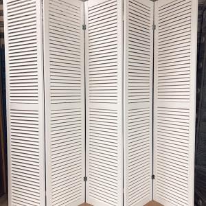 Ширма деревянная из пяти створок JenDi 200x180 Белая