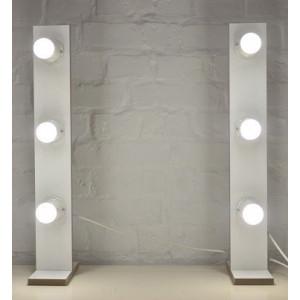 Гримерные стойки с лампочками JenDi x3 White