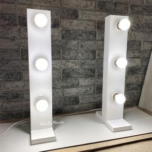 Гримерные стойки с лампочками JenDi 50x10 White