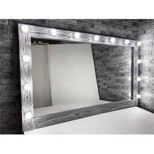 Гримерное зеркало с лампочками JenDi 150х90 Чикаго
