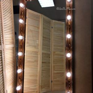 Гримерное зеркало с лампочками JenDi 180х90 Колорадо