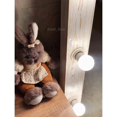 Гримерное зеркало с лампочками JenDi 200х80 White Loft