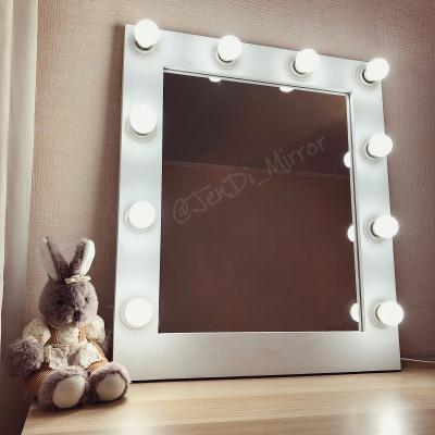 Гримерное зеркало с лампочками JenDi 60x70 White