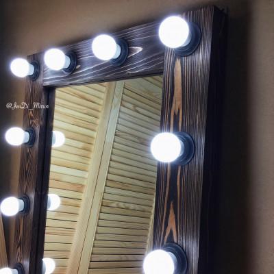 Гримерное зеркало с лампочками  JenDi 60х75 Американо