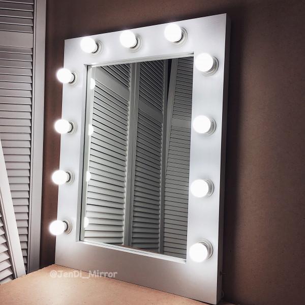 Гримерное зеркало с лампочками  JenDi 60х80 White 1