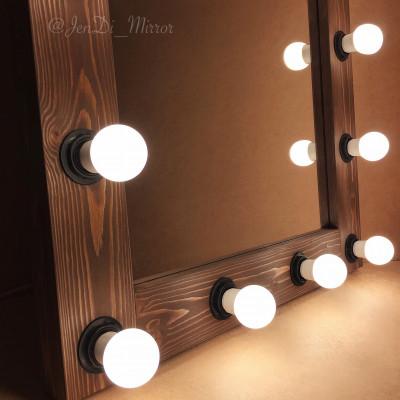 Гримерное зеркало с лампочками  JenDi 70х130 Шоколад