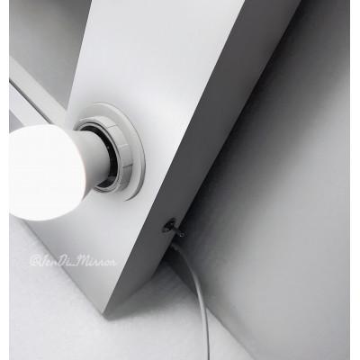 Гримерное зеркало с лампочками  JenDi 70х50 White