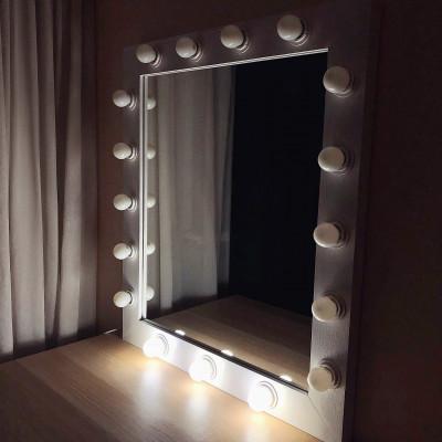 Гримерное зеркало с лампочками JenDi 75x85 White