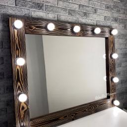 Гримерное зеркало с лампочками JenDi 100х80 Арабика