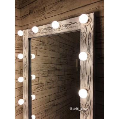 Гримерное зеркало с лампочками в полный рост JenDi 180х80 Чикаго