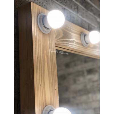 Гримерное зеркало с лампочками JenDi 180х80 см Песочное