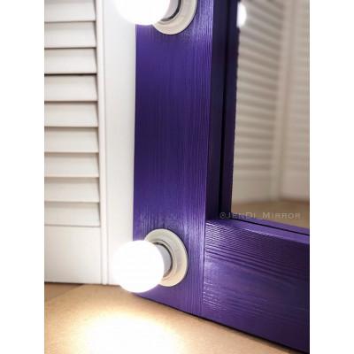 Гримерное зеркало с лампочками JenDi 180х80 Фиолетовое