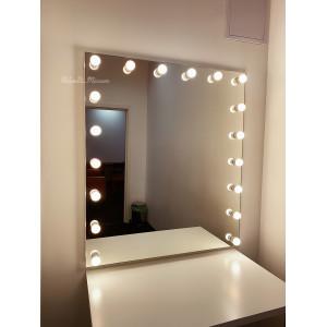 Гримерное зеркало с лампочками JenDi 115х100 Безрамное