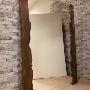 Зеркало в раме из слэба JenDi 180х130 см Шоколад
