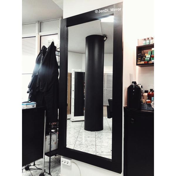 Ростовое зеркало в раме из дерева JenDi 170х80 Черное