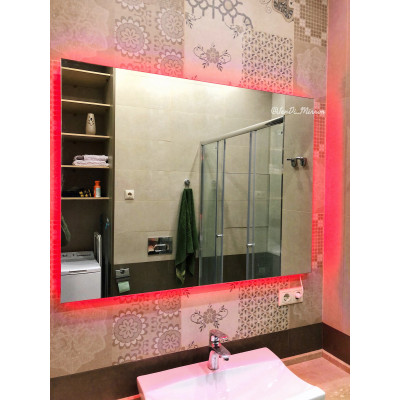 Зеркало с подсветкой  JenDi 120х90 Безрамное