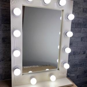 Гримерное зеркало с полкой JenDi 70х50 Слоновая кость