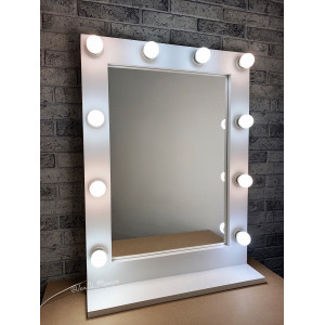 Гримерное зеркало на подставке JenDi 60х80 Белое